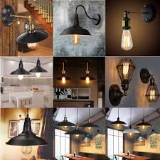 details about vintage retro factory industrial pendant lamp ceiling chandelier wall loft light