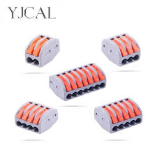 <b>YJCAL</b> 30 50 <b>100 PCS</b> Wiring Connector Push-in Terminal Block ...
