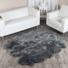 large dover grey sheepskin rug 6 pelt to 5 5x6 ft