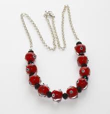 red popeye handmade lampwork bead necklace glass candy madeit com au