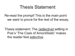 notebook assignment tone in the cask of amontillado directions  thesis statement re the prompt