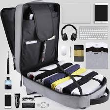 Business <b>men's USB charging</b> backpack <b>multi-function</b> laptop ...