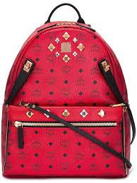 Designer Mcm Meaning Mcm Belt Red Inside Mcm Studded Backpack Unisex Bags Mcm