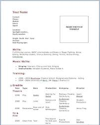 Dance Resume Template Enchanting Dance Resume Template Lovely Dance Resume Template Free Download