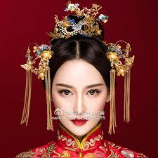 2018 <b>New Chinese</b> bride headdress classical <b>Phoenix</b> hair comb ...