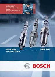 2009 2010 Nz Spark Plug Catalogue Bosch New Zealand