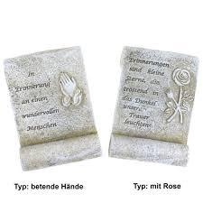 Schriftrolle Trauer Mit Spruch Ca14x95x35cm Steinweiß Polyresin