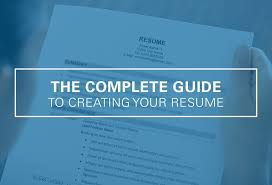 Resume Complete Creating Your Resume The Complete Guide Ultimate Medical