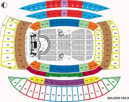 Seating Chart Soldier Field Kenny Chesney Soldier Field Chicago Il Seating Chart View