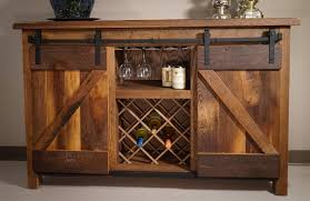 Amish Cabinet Doors Sliding Barn Door Wine Server