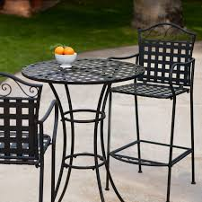 Iron Table And Chairs Set Belham Living Wrought Iron Bar Height Bistro Set By Woodard