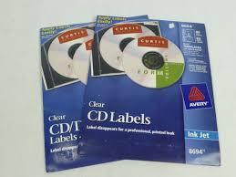 Avery Labels Dvd Avery 8694 Clear Glossy Inkjet Cd Dvd Labels 40pk No Applicator