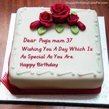 Birthday Cake Images Name Pooja Floweryred2com