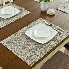 placemats for round dining table round table dining table mat coasters heat insulation mat linen dining