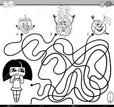 Vettoriale Illustrazione In Bianco E Nero Del Fumetto Dei Percorsi
