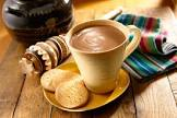 champurrado with honey  mexican hot chocolate