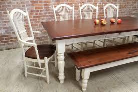 kitchen table wood top white legs farmhouse dining table white legs dining room ideas