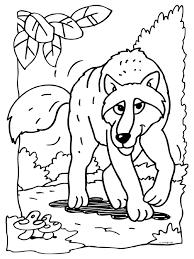 Kleurplaat Een Wolf Kleurplatennl