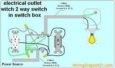 double outlet box wiring diagram in the middle of a run in one box wiring diagram for light switch and outlet 4 way light switch, light switch wiring, light switches, electrical wiring diagram,