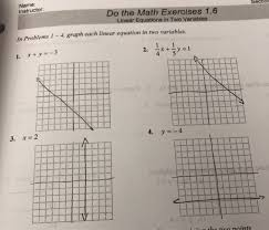 name instructor do the math exercises 1 6 linear equations in two variables in problems 1