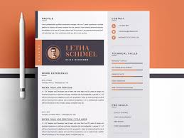 Best Modern Clean Resume Design Modern Clean Resume Cv Template By Resume Templates On