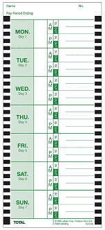Time Card Amazon Lathem Weekly Thermal Print Time Cards Single Sided 1