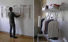 folding chair holder. image of: folding chair rack used as shelf holder h