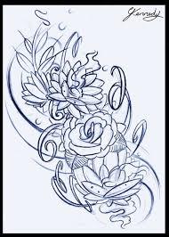 Flowers Tattoo Sketch Tattoos Pinterest Floral