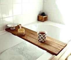 tub caddy wood wooden bath wooden bath wooden bath portrayal tray bathroom decor shelf with wood tub caddy wood