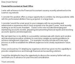 Financial Statement Cover Letter Accountant Cover Letter Example For Job Applications