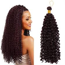 Shop 14 Inches Hair Extensions Water Wave Synthetic Crochet