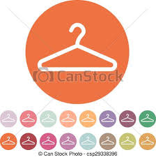 Symbol Coat Rack The Hanger Icon Coat Rack Symbol Flat Vector Illustration Eps 54