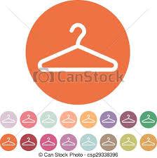 Symbol Coat Rack The hanger icon coat rack symbol flat vector illustration eps 54