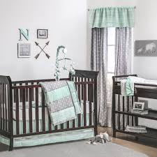 straight and arrow crib bedding starter set mint grey gray baby mickey mouse girl teal yellow elephant pink purple white cot room sheets anchor gold nursery