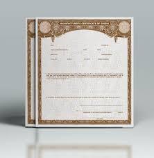 Buy Manufacturer Certificate Of Origins Mco Mso Paper Templates