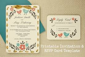 rsvp card template diy tutorial free printable invitation and rsvp card template