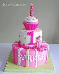 1 Year Birthday Cake Design Baby Girl Two Tier Birhtday Cakes Is Another View Of The