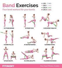 Printable Resistance Band Exercises Seniors Loop Workout