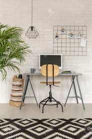 office rug. Home Office In Industrial Style With Simple Desk And Rug Stock Photo - 69166600 V