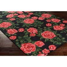 indoor area rug botany quinn poppy red 8 ft x 10 ft indoor area rug