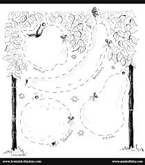 Small Picture Succah Fruit Decoration Coloring PAge