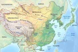 Basic asian geographical features