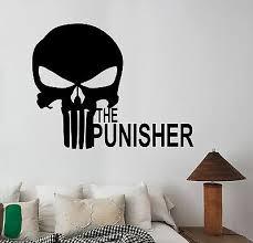 punisher skull decal vinyl wall sticker