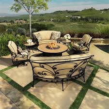 ow lee ashbury patio set with fire pit table