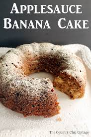 Applesauce Banana Cake