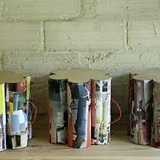 cardboard tube furniture. DIY Cardboard Tube Ottoman / Side Table Furniture