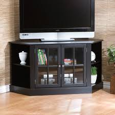 alice black corner tv stand media center window pane glass doors regarding corner cabinets tv stands