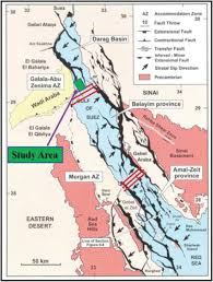 Tectonic Map Of The Gulf Of Suez Showing The Three Dip