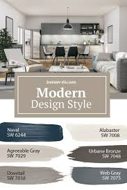 modern design style paint colors in