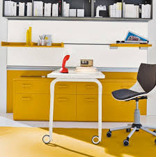 yellow office decor. Yellow Clever Home Office Decor Ideas 5